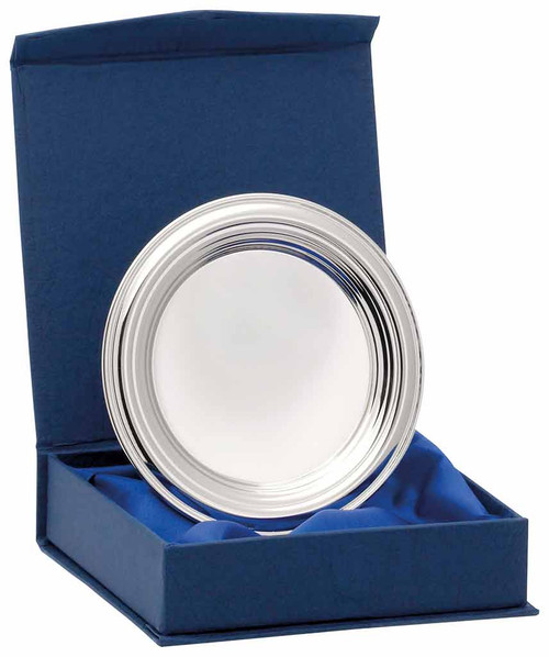 Nickel Plated Tray with ridged edge and FREE presentation box only at 1st Place 4 Trophies