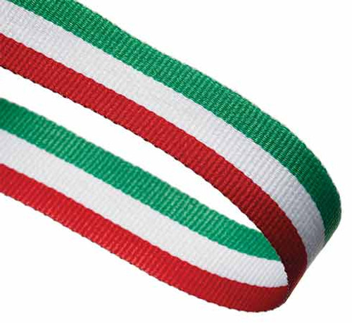 RED, WHITE & GREEN RIBBON