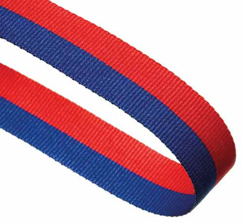 BLUE & RED RIBBON