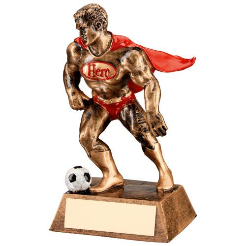 Resin Football Hero novelty comic award for football superstars