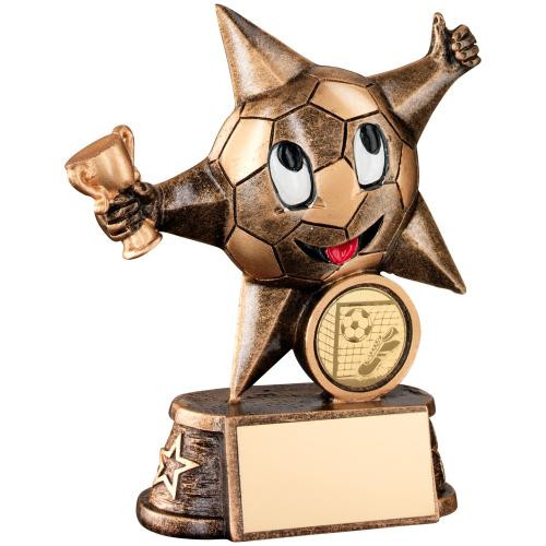 Perfect little budget gold football superstar cheap award