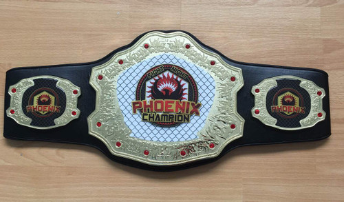 Deluxe Championship Title Belt (logos for illustration purposes only)