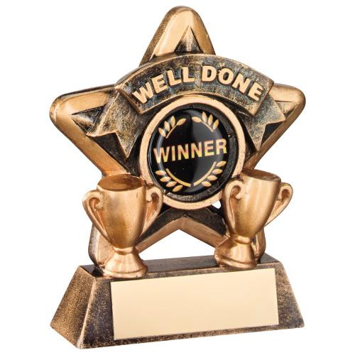Well Done Award that includes FREE personalised engraving.