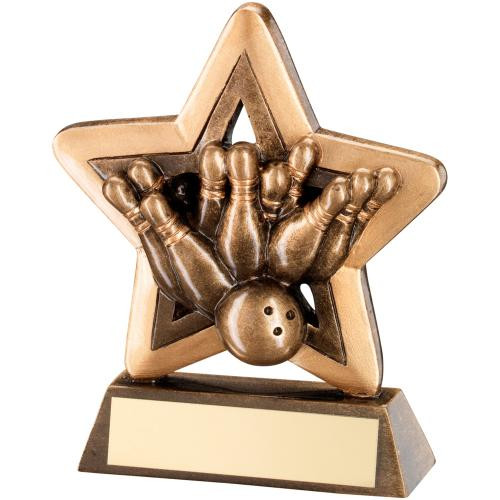 RF417 mini Ten Pin Bowling budget Award that includes FREE personalised engraving.