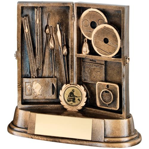 Fabulous Angling Box trophy. Includes FREE personalised engraving!
