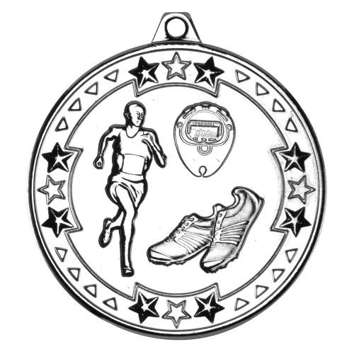 Silver Athletics Running Medal