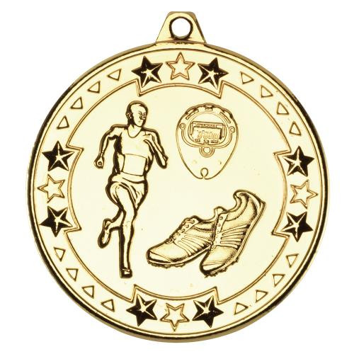 Gold Athletics Running Medal