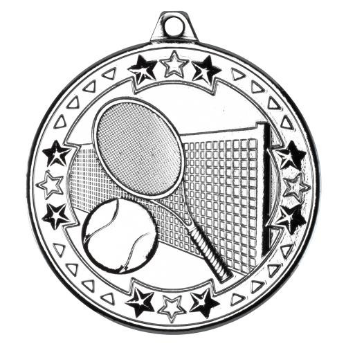 Silver 50mm Tennis Medal