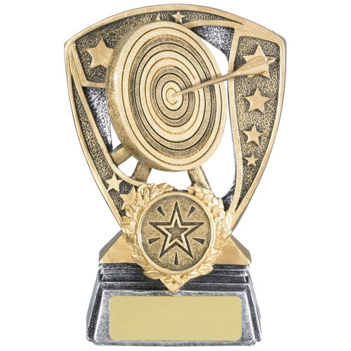 Archery Shield Award available in 3 cheap sizes from 1st Place 4 Trophies and Gifts