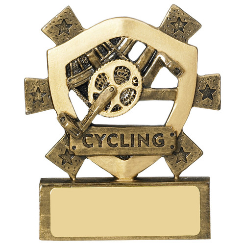 Fantastic Budget CHEAP price for this Star Shield Cycling Trophy