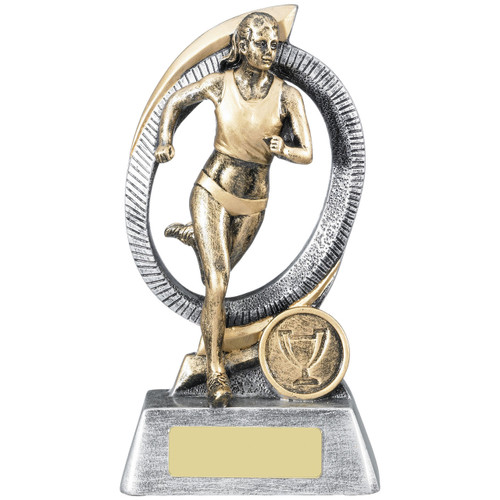 Ladies Running Athletics Award RM123 with FREE engraving at 1stPlace4Trophies