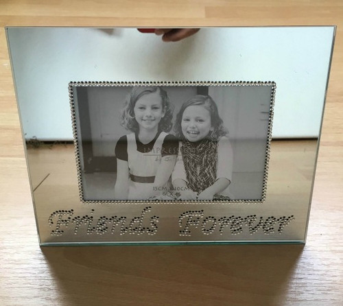 MIRRORED FRIENDS FOREVER 6X4 PHOTO FRAME