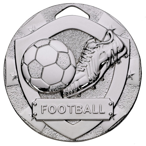 50mm Silver Embossed Diecast Medal Also available in gold and bronze