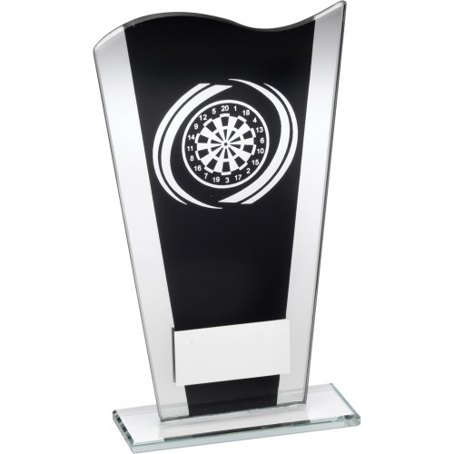 Black and Silver Glass Darts Award