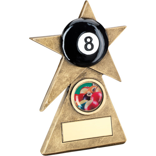 Pool black 8 Ball Award. This budget trophy is a stunner available in 3 sizes