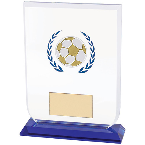 Football glass hand painted trophy award