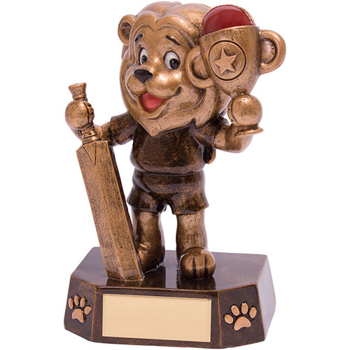 Braveheart cricket batsman novelty fun comic trophy