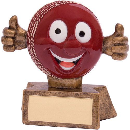 Smiler novelty fun comic cricket ball award