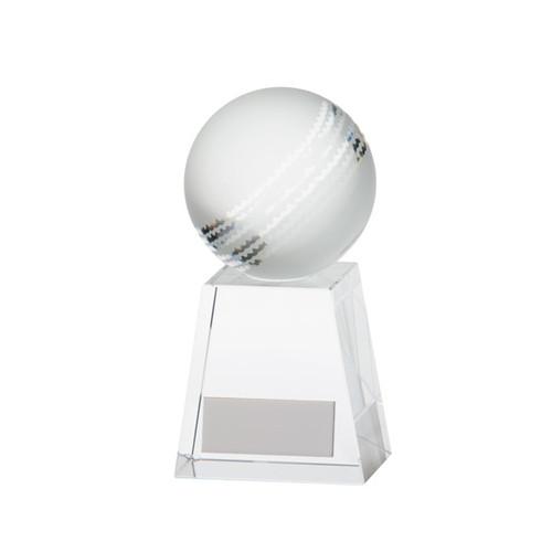Stunning cricket ball crystal glass trophy award