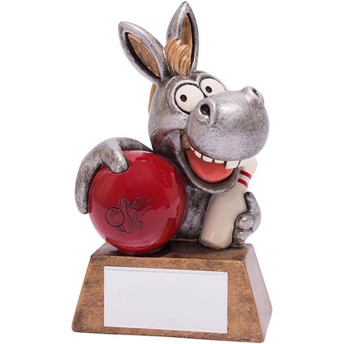 What A Donkey! Ten Pin Bowling Trophy comic novelty award