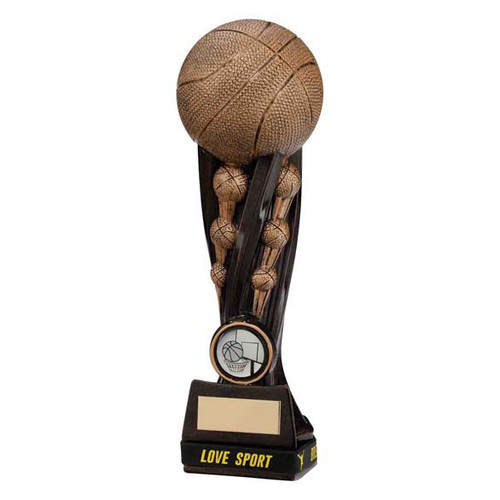 Epic Tower Love Sport Basketball team award in antique gold
