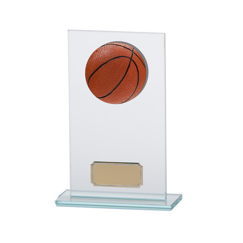 Horizon Basketball Jade glass trophy award in 3 sizes