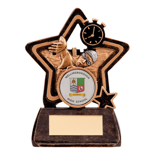 Little Star budget swimming award goggles timer trophy