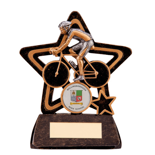 Little star budget cycling award super value prize trophy