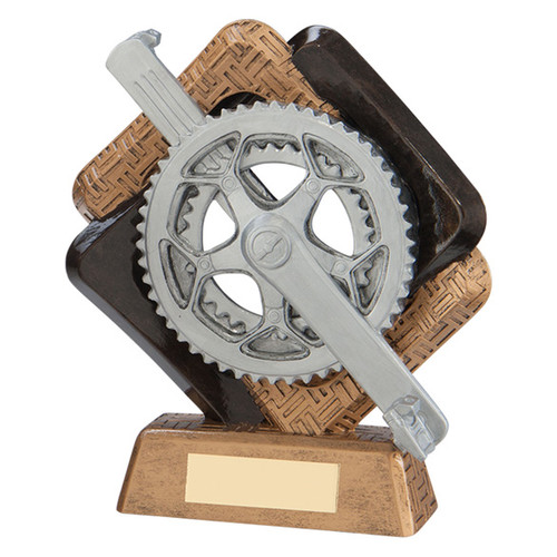 Sporting unity Cycling Award pedal cog prize trophy