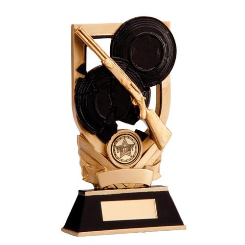 Trojan clay pigeon shooting award targets gun prize rifle trophy win