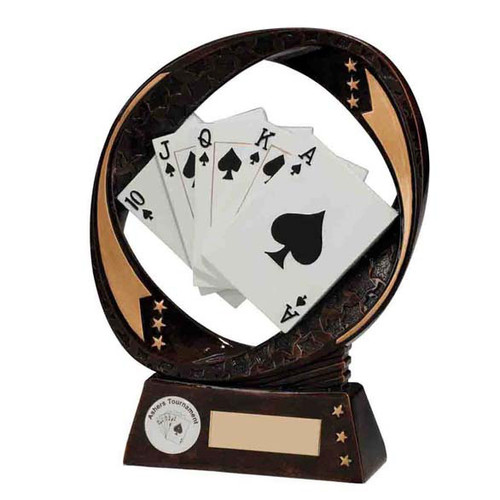 Typhoon Poker pack of cards award cheap trophy at 1st place 4 trophies