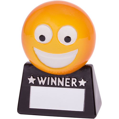 Smiler WINNER award cheap fun novelty trophy