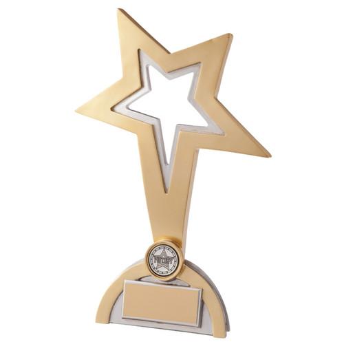 Beautiful Sport Achievement Award cheap price budget gold silver star