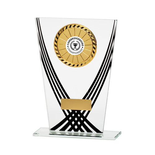 Multisport Aztec budget glass trophy cheap affordable award