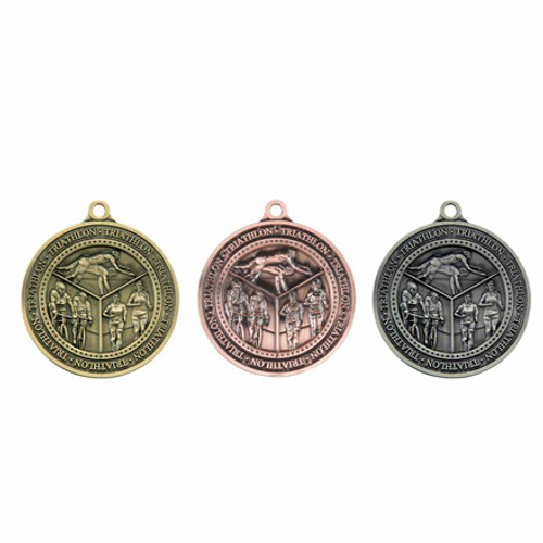 "Olympia Triathlon Sport 60mm (2.25"") 3D Medals"