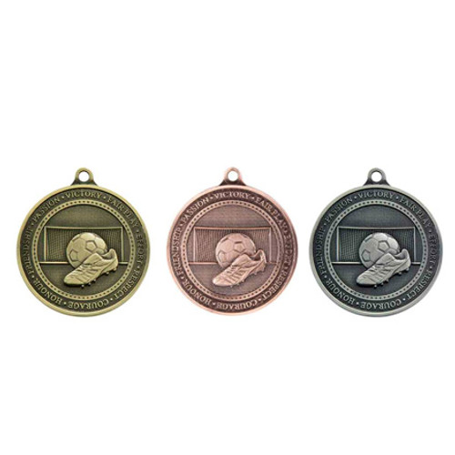 Football 70mm 3D sport Medals boot and ball cheapest best price