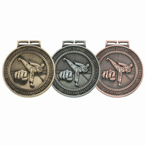 "Olympia Karate Martial Arts 70mm (2.75"") 3D Medals"