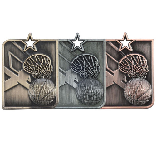 Centurion Star high relief 3D die cast budget cheapest medals in gold silver bronze