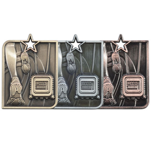 Centurion Star Running Athletics 3D die cast budget cheap best price medals