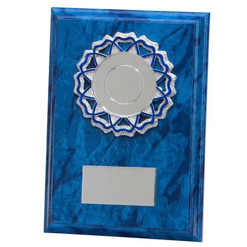 Armagh Cobalt blue marble budget plaque at 1st Place 4 Trophies