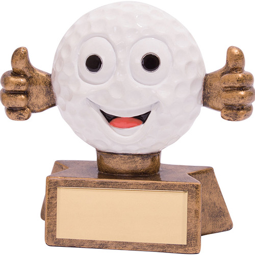 Smiler novelty comic golf ball fun trophy award