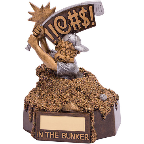 Bunker Blues fabulous novelty golf trophy at a fantastic price point