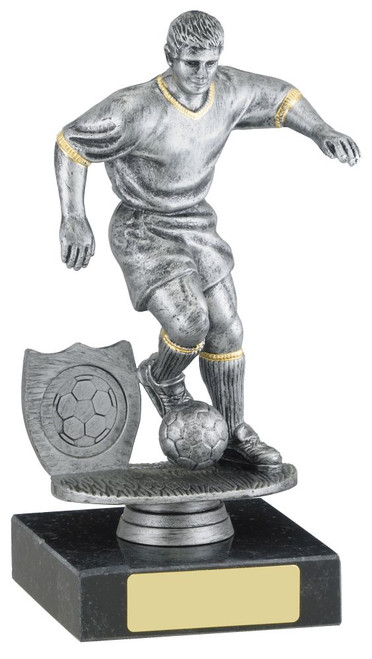 Antique silver male football player budget great price award