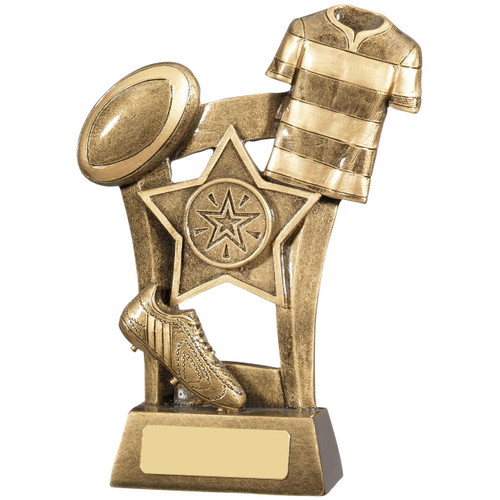 Super budget prices for many rugby sport awards from 1stPace4Trophies