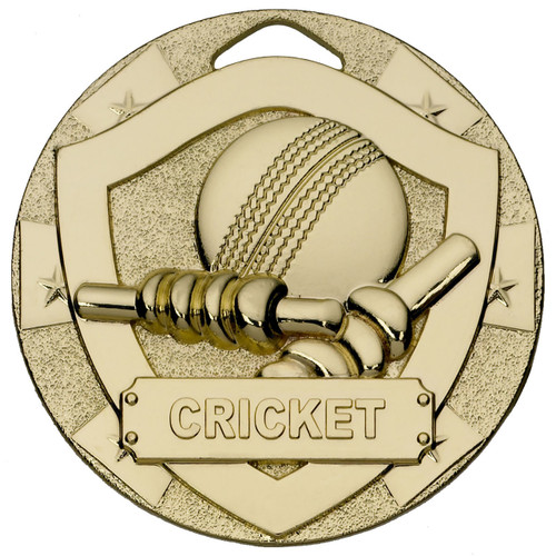 50mm embossed cricket medals in gold silver and bronze with free engraving