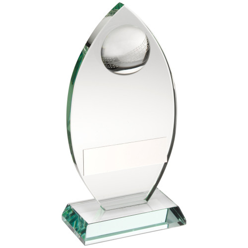 Stylish and affordable classy oval jade glass cricket award JR6-TD446