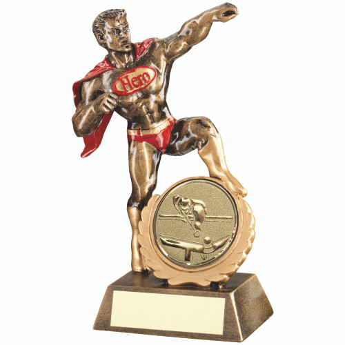 """Novelty Pool and Snooker Hero Award with a super 2"""" Centre Piece"""