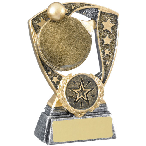 Table Tennis Shield Award available in 2 budget prices with FREE engraving