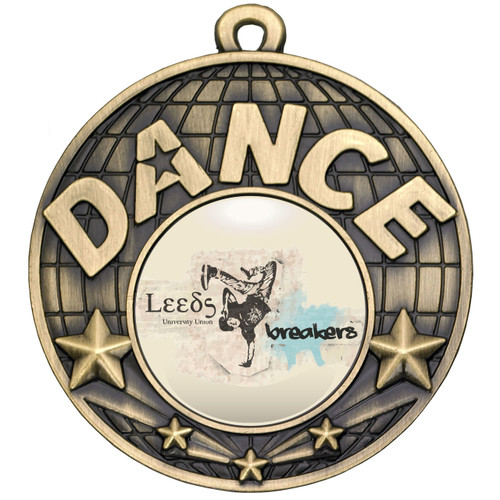 50mm Gold Dance Medal available with FREE engraving