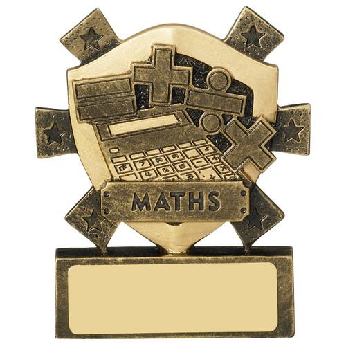 Star Shield Maths Academic Budget Cheap Mini Award with FREE engraving!